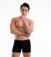 3 quần lót nam Trunk Cotton Compact co giãn màu đen
